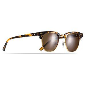 Trespass DLX Halcyon, Tortoiseshell, Sunglasses with UV Protection, Hard Case & Micro Fibre Cloth / Category 3 Polarized Lenses, Brown