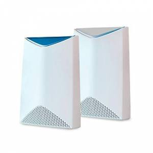 Netgear Orbi Pro Tri-Band Mesh WiFi System (SRK60) -- Router & Extender Replacement covers up to 5,000 sq. ft., 2 Pack, 3Gbps Speed Router & 1 Satellite, white