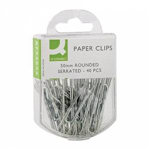 Q-Connect KF02025Q Paperclip 50mm Corrugated, 10 packs of 40, 400 total (Pack of 10)