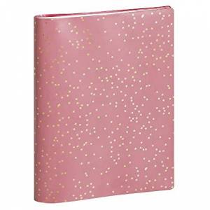 Exacompta 226278E SAD 22S Weekly Spiral Bound Desk Diary 22.5 cm x 18.5 cm September 2020 to December 2021 Meline Pink