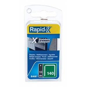 Rapid High Performance Staples, Stainless Steel, No.140, Leg Length 10 mm, 40109575 - 648 Pieces