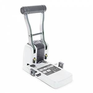 Rapesco ECO P1100 High Capacity/Heavy Duty Punch, Soft White, 100 Sheets