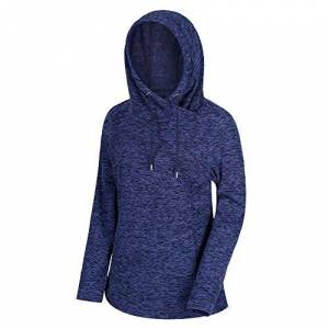 Regatta Women's Kizmit II Lightweight Cowl Neck Hooded Fleece, Navy, 22 (Manufacturer Size: 3XL)