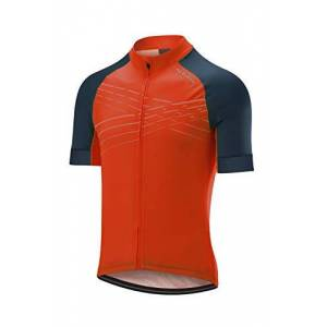 Altura Men's Firestorm Short Sleeve Jersey, Spice Orange/Teal, Small