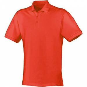 JAKO Classic Men's Polo Shirt Red Flame Size:4XL