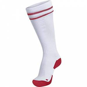 Hummel (Humbc) hummel Element Football Sock, unisex_adult, Socks, 204046-9402, White/True Red, 31W / 34L