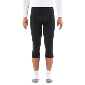 FALKE Men Warm 3/4 Tights - Sports Performance Fabric, Black (Black 3000), S, 1 Piece