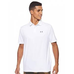 Under Armour mens Performance 2.0 Polo T Shirt with Short Sleeves, with Sun Protection, White, XL