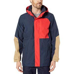 Jack Wolfskin Men 365 Exposure Jacket Men's Hardshell Jacket - Night Blue Peak Red, Large
