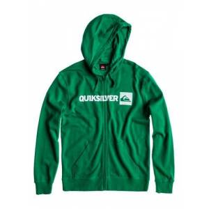 Quiksilver Hood Summer Men's Hooded Zip-Up Sweatshirt green Greeny Size:Small