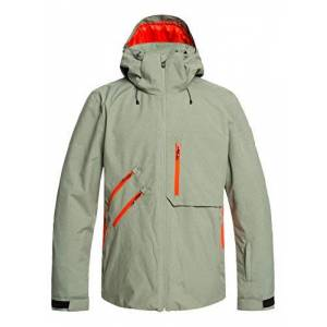 Quiksilver Traverse - Snow Jacket for Men Snow Jacket - Agave Green, Small