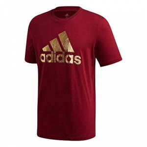 adidas Men's Universal Foil T-Shirt, buruni, XS