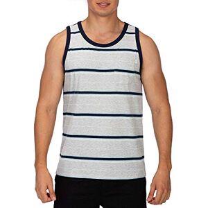 Hurley Men M Dri-Fit Harvey Stripe Pocket Tank Tops - Grey Heather, Small