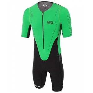 Huub Men's Dave Scott Long Course Suit, Black/Green, X-Small