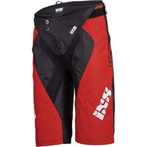 IXS unisex_adult Race shorts fluo red-black S Trouser, XL