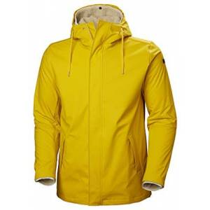 Helly Hansen Men's Moss Insulated 3-in-1 Fleece Inner Waterproof Rain Coat, Essential Yellow, Small