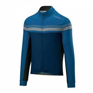 Altura Men's Nightvision 4 Long Sleeve Jersey, Teal/Blue, Small