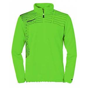uhlsport Match Pullover Sweatshirt 1/4 Zip Top Green Grün Flash/Schwarz Size:S