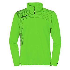 uhlsport Match Pullover Sweatshirt 1/4 Zip Top Green Grün Flash/Schwarz Size:S