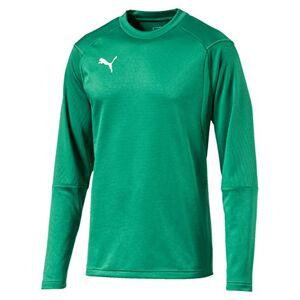 Puma Men's LIGA Training Sweat Sweatshirt, Pepper Green White, Small