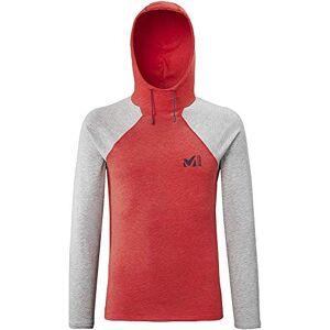 Millet Red Wall Light Hoodie M – Men's T-Shirt, mens, T-Shirt, MIV8542, Fire / Heather Grey, XS