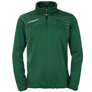 uhlsport Match Pullover Sweatshirt 1/4 Zip Top Green Lagune/Weiß Size:S