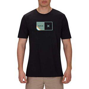 Hurley Men M Halfer Stripe S/S Tee - Black, X-Large