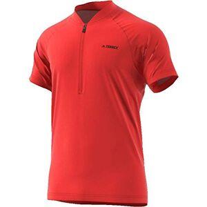 adidas 1/2 Zip tee T-Shirt, Men, Mens, T-Shirt, CG2482, Pink, 192