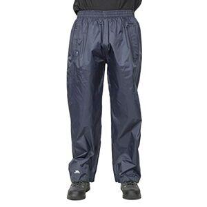 Trespass Unisex Adult Qikpac Compact Packaway Waterproof Trousers, Dark Navy, Large