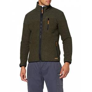 CMP Men's Giacca e con fodera interna in Lana Jacket, Oil Green, 46
