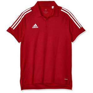 adidas Con20 Polo Shirt - Team Power Red/White, X-Small
