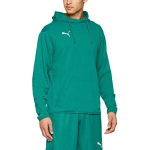 Puma Men's LIGA Casuals Hoodie Sweatshirt, Pepper Green/White, Small