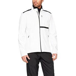 Falke Men's Running Softshell Jacket, White, Small