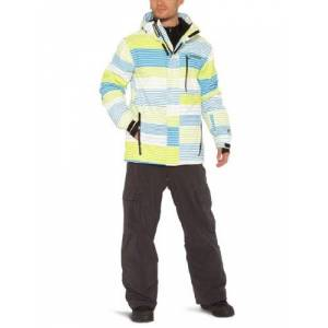 Protest Men's POKERFACE boardjacket - Lime Punch, Small