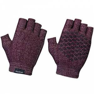 Gripgrab Aps GripGrab Unisex's Freedom Fingerless Knitted Cycling Gloves Comfortable Durable Lifestyle Anti-Slip Shortfinger Gravel Bike-Packing Short, Dark Red, X-Large/2X-Large