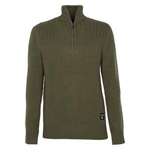 Jeep Half Zip Men's Sweatshirt Half Zip Sweater Jacket Green dunkelgrün Size:S