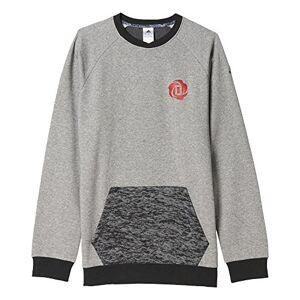 adidas Men's Rose BRN Crew Sweatshirt Red, Small, Grey/Black/Brebas/Negro