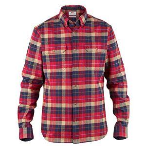 Fjallraven Singi Heavy Flannel Shirt M Long Sleeved T-Shirt - Deep Red, S