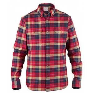 Fjallraven Men's Singi Heavy Flannel Shirt M Long Sleeved T, Red, XS