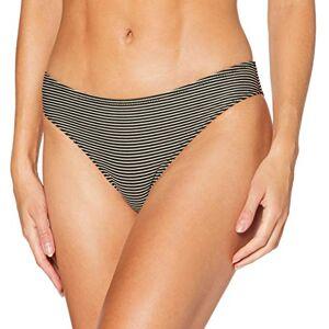 Lovable Women's Gold Lines Bikini Bottoms, Rigato Nero Oro, L