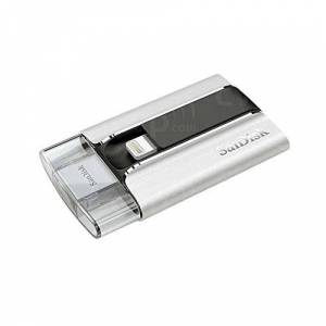 SanDisk iXpand 32 GB Flash Drive - Black/Silver