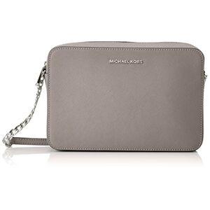 Michael Kors Womens Jetset Lg Ew Crossbody Cross-Body Bag Grey (Pearl Grey)