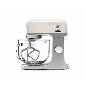 Kenwood 0W20011141 KMix Stand Mixer for Baking, Stylish Kitchen Mixer with K-Beater, Dough Hook and Whisk, 5 Litre Glass Bowl, Removable Splash Guard, 1000 W, Cream