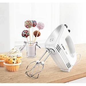 Bosch CleverMixx MFQ24200GB Hand Mixer, Plastic, 400 W - White/Stainless Steel