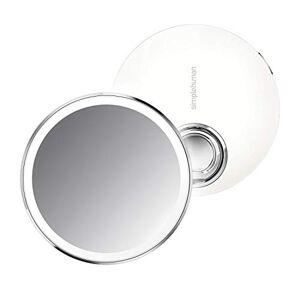 simplehuman ST3037 10cm Sensor Mirror Compact, White Stainless Steel