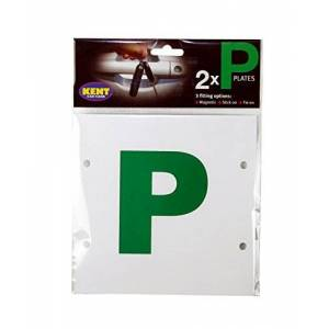 Gkel4000 Kent Car Care P-Plates Magnetic, Stick-On/Tie-On