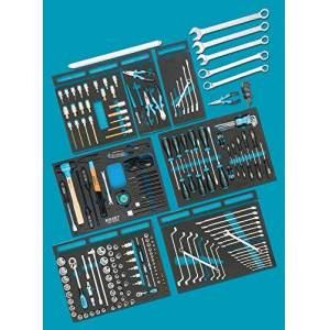 HAZET Standard Assortment for Audi 0-2500-163/214 Number of Tools: 214, Multi-Colour
