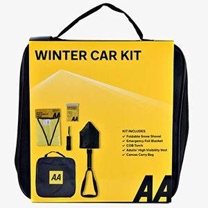 Aawk AA Winter Car Kit AA3386 - Folding Snow Shovel, LED/COB Torch, Foil Blanket, Hi-Vis Vest - Zipped Storage Bag Suitable for Any Vehicle or Home