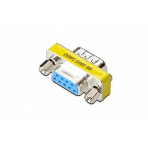 Digitus Assmann Electronic D-Sub9 M/F - Cable Interface/Gender Adapters (D-Sub9, D-Sub9, Male/Female, Metallic, Metal, Polybag)