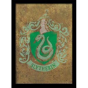 """Harry Potter FP10610P-PL """"Slytherin Crest"""" Framed Print, 30 x 40 cm"""